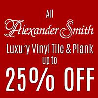 Up to 25% OFF all Alexander Smith luxury vinyl tile & plank this month at New Mexico Flooring Solutions in Albuquerque.