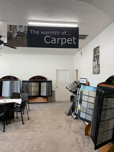 Showroom of New Mexico Flooring Solutions Abbey Carpet and Floor