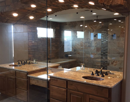 Residential bathroom project by New Mexico Flooring Solutions - Albuquerque, New Mexico