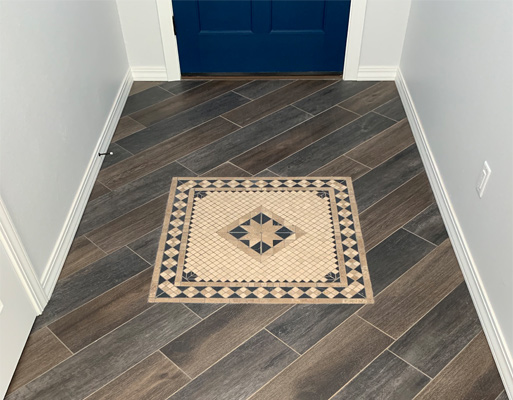 Residential entry way project by New Mexico Flooring Solutions - Albuquerque, New Mexico