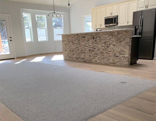 Residential living room project completed by New Mexico Flooring Solutions - Albuquerque, New Mexico