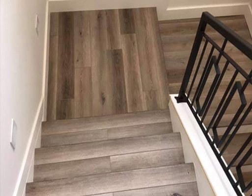 Residential stair project by New Mexico Flooring Solutions - Albuquerque, New Mexico
