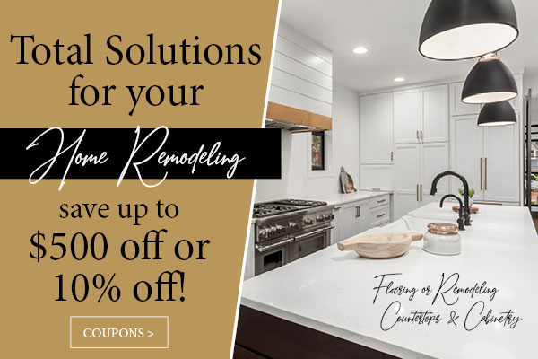 Total solutions for your Home Remodeling. Save up to $500 off or 10% off